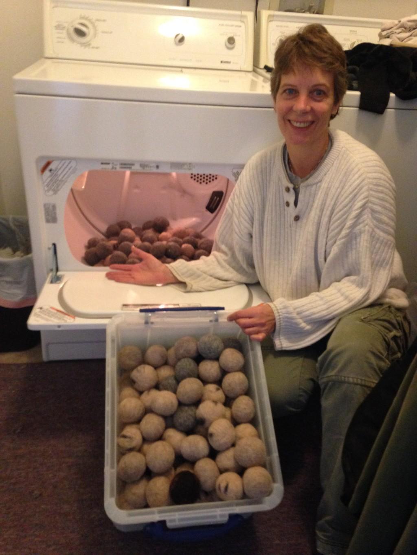 Making Alpaca Dryer Balls